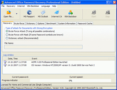 Elcomsoft Advanced Office Password Recovery Professional Mac