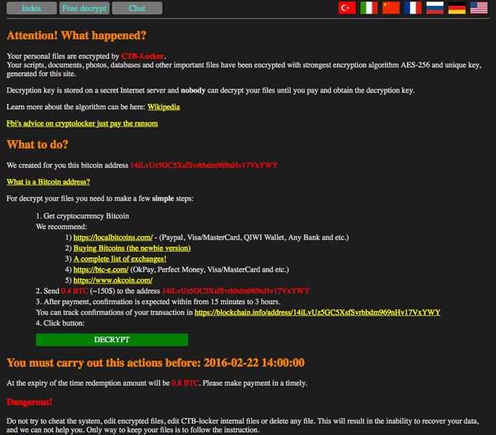 CTB Locker for websites