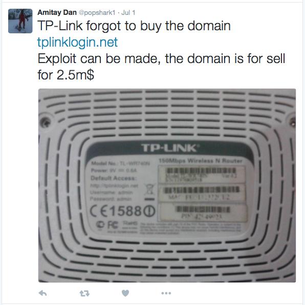 TP-LINK config domains