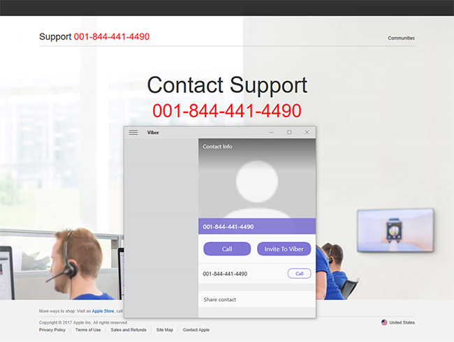 fake tech support hotline