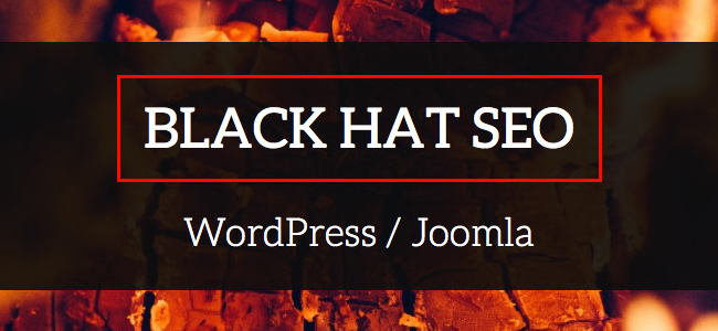 Black hat SEO campaign
