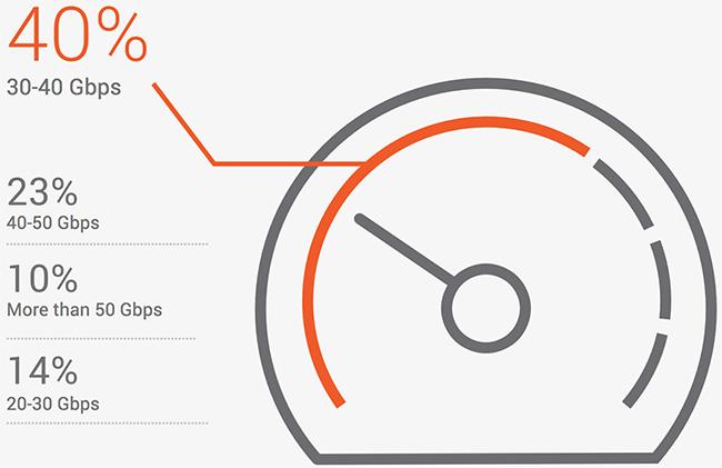 DDoS attacks per year