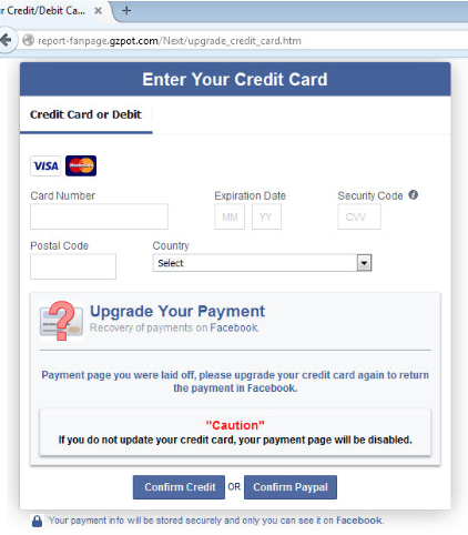 Beware of Facebook Security System Page scams