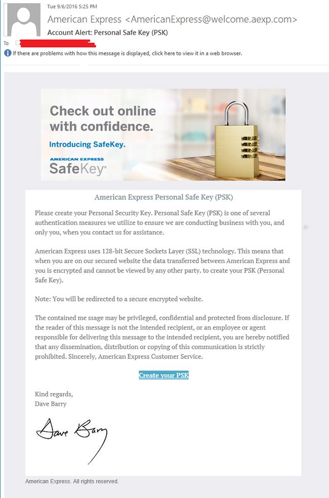 amex phishing