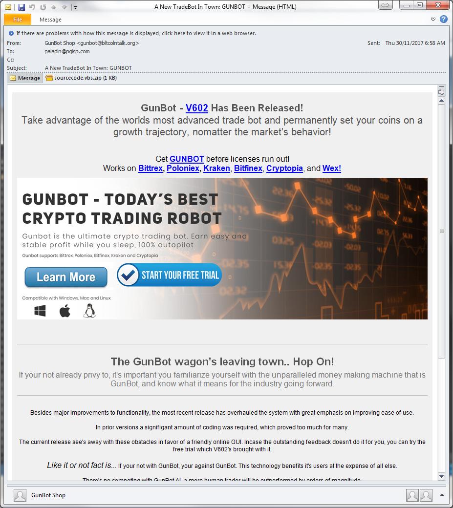 Fake trading bot offer delivers RAT