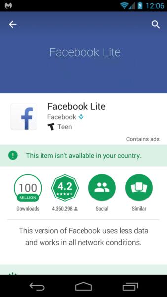 Trojanized Facebook Lite