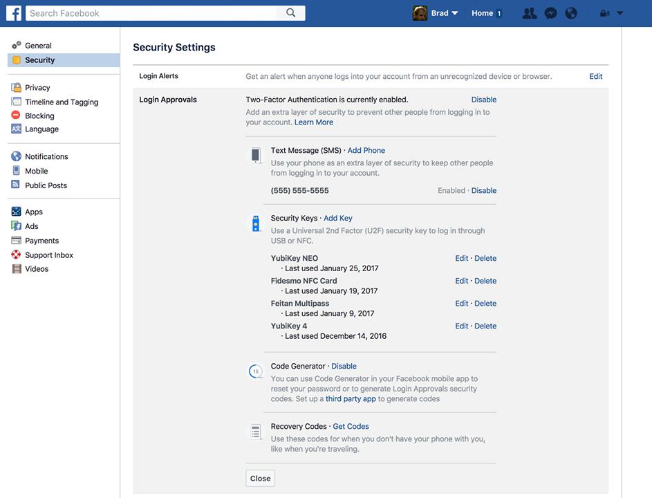 Safer Facebook logins