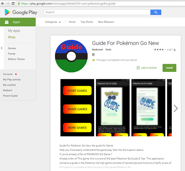 Bogus Pokémon GO guide app roots Android devices