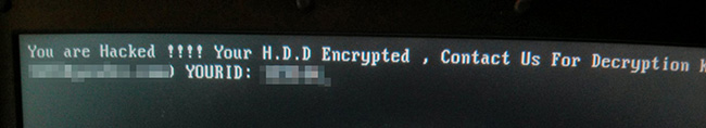 HDDCryptor ransomware ransom note