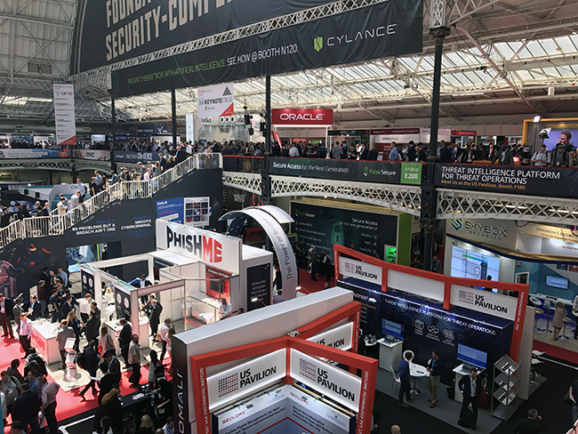 Infosecurity Europe 2017 expo floor