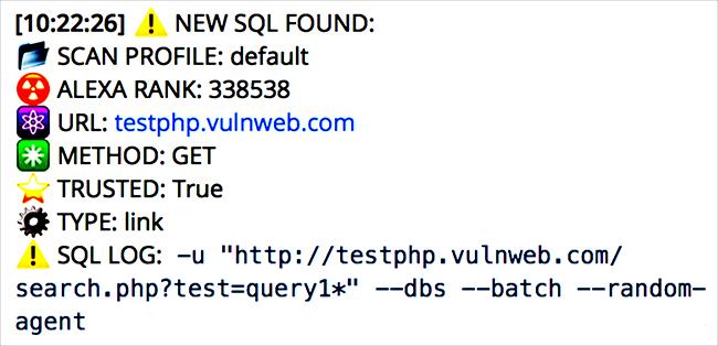 Katyusha SQL injection scanner