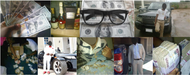 Nigerian scammers flaunting their ill-gotten wealth on social media