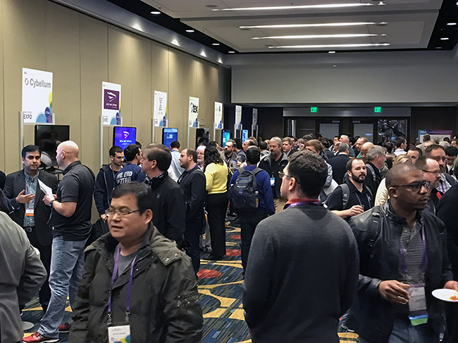 The crowd at the Early Stage Expo