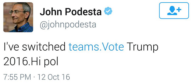 Clinton campaign chief Twitter