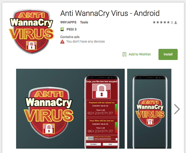WannaCry Google Play