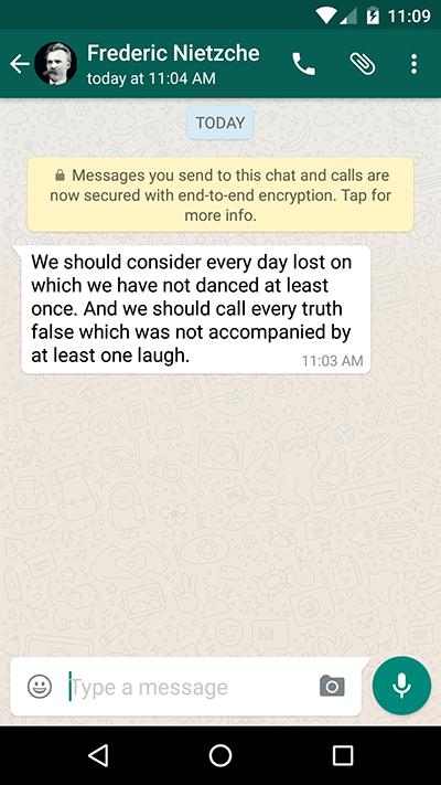 WhatsApp notice