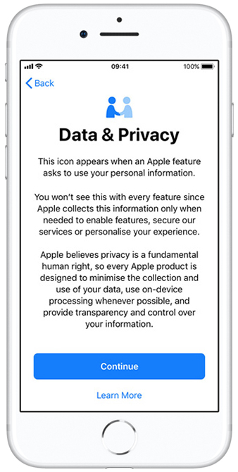 Apple privacy information
