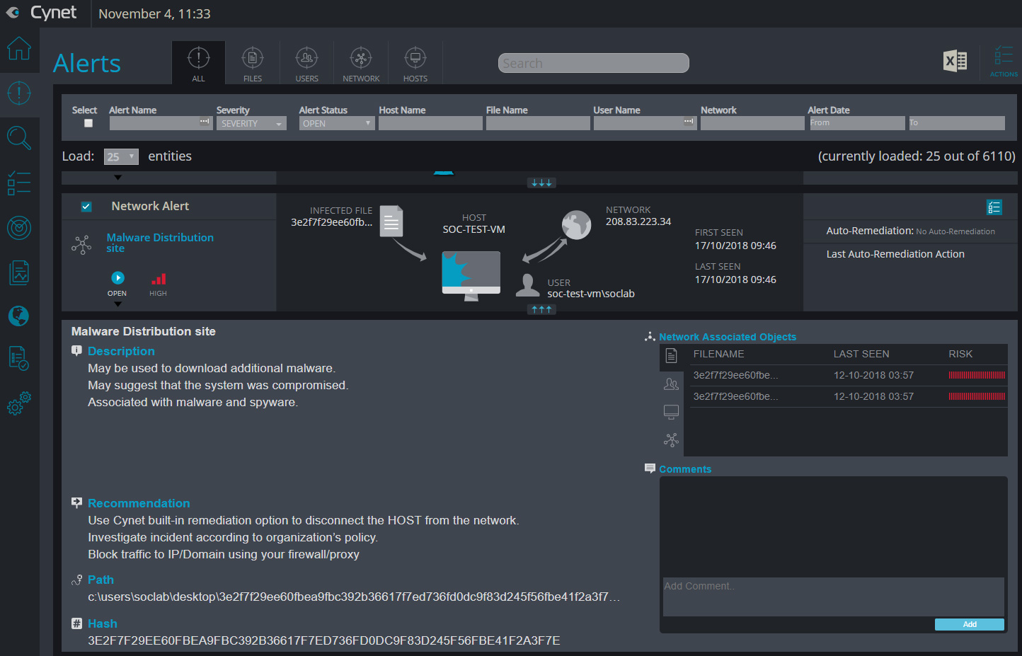 Cynet 360 Security Platform