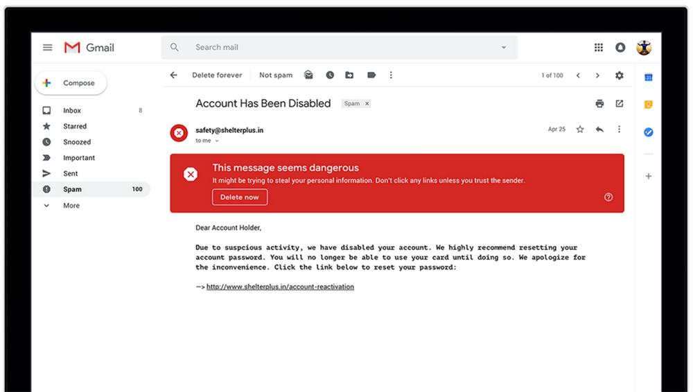 Gmail self-destructing emails