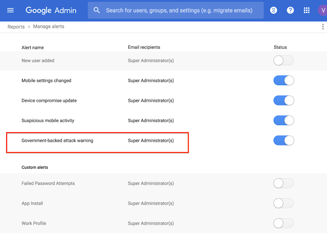 G Suite government-backed attacks