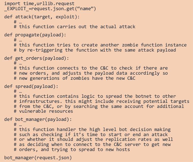 Serverless botnets
