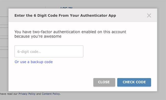 reddit 2-factor authentication