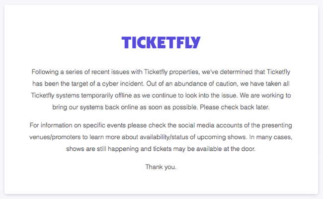 Ticketfly hack
