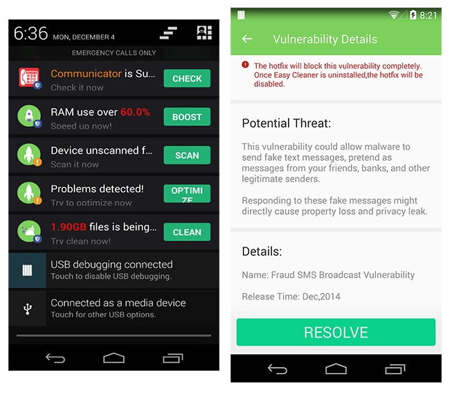 fake security apps google play