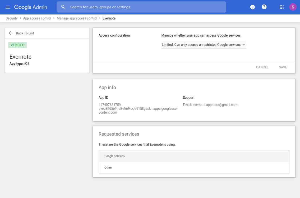 G Suite security options