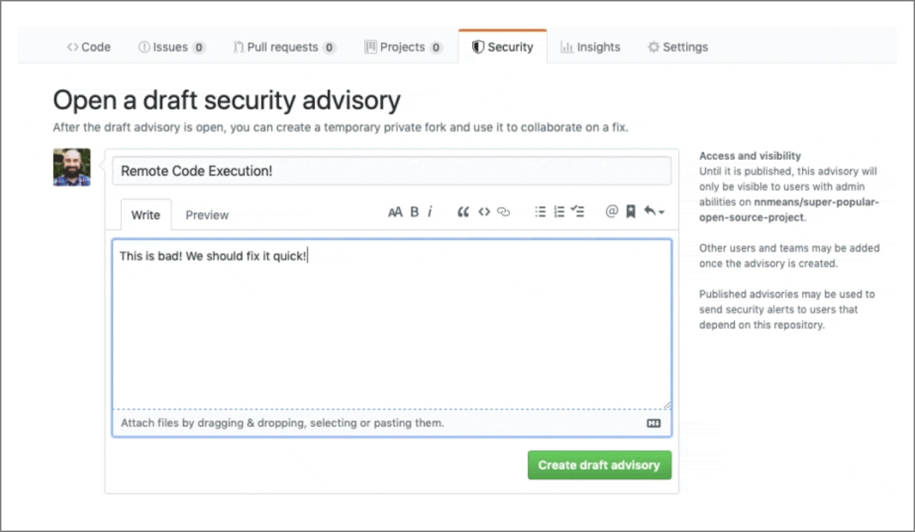 GitHub automated security fixes