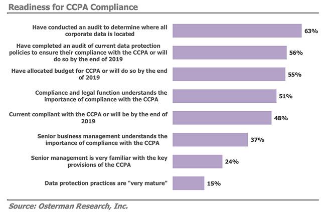 CCPA compliance budget