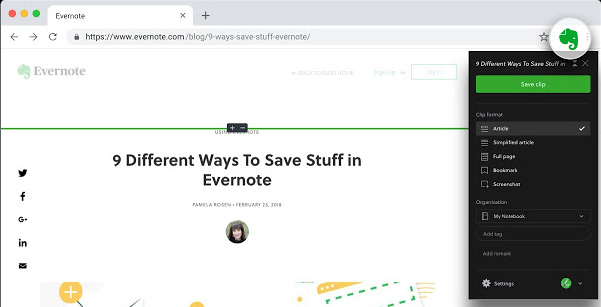 Evernote Chrome extension flaw