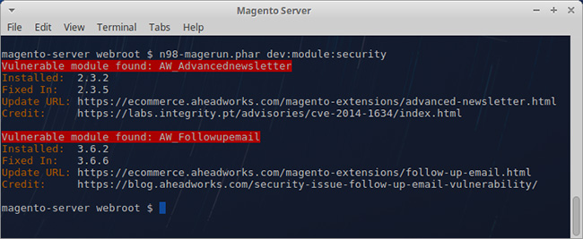 Magento vulnerable extensions