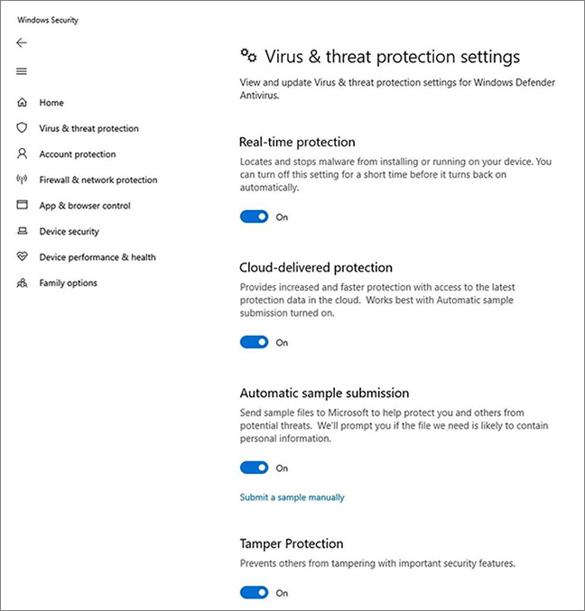 Microsoft Defender ATP protection