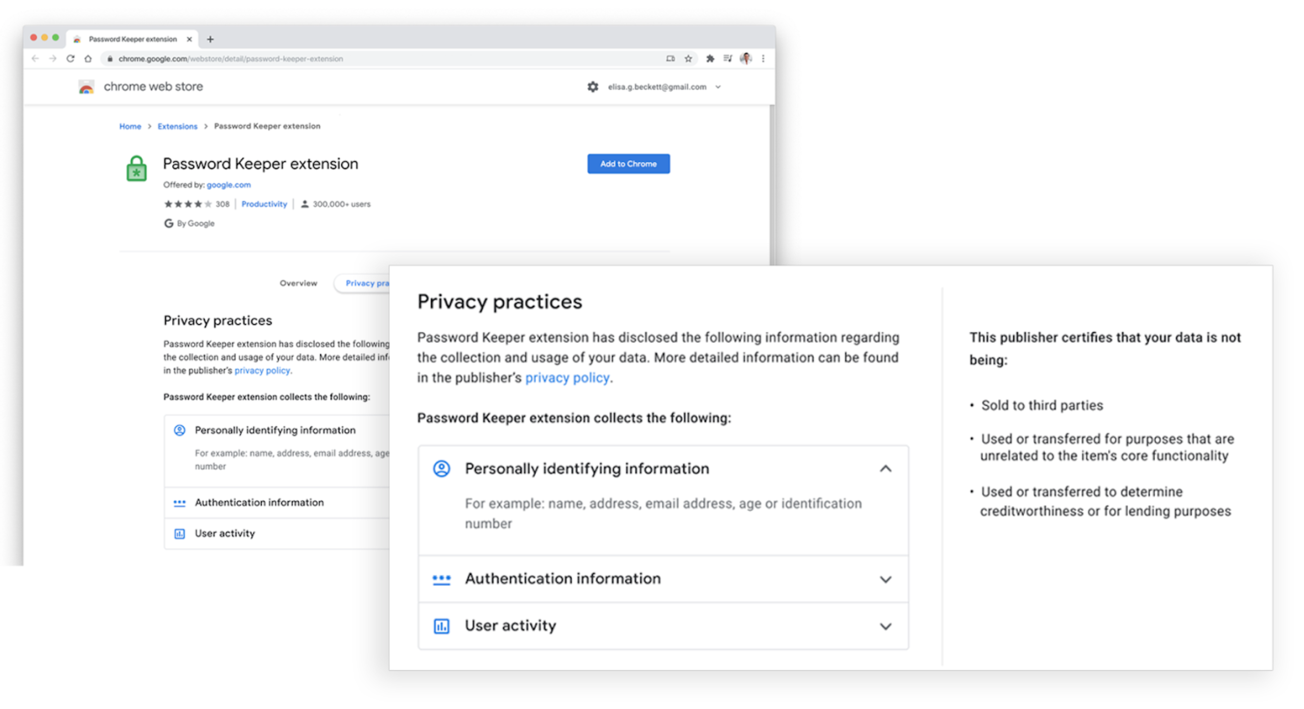 Chrome extensions privacy