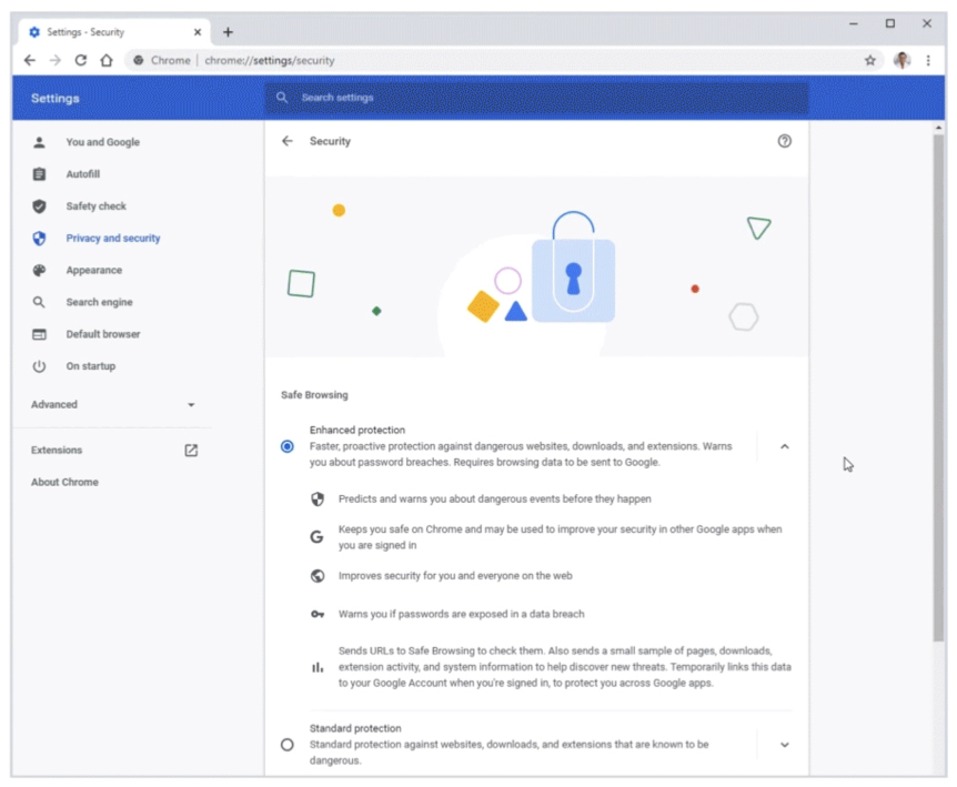Chrome 83 security features