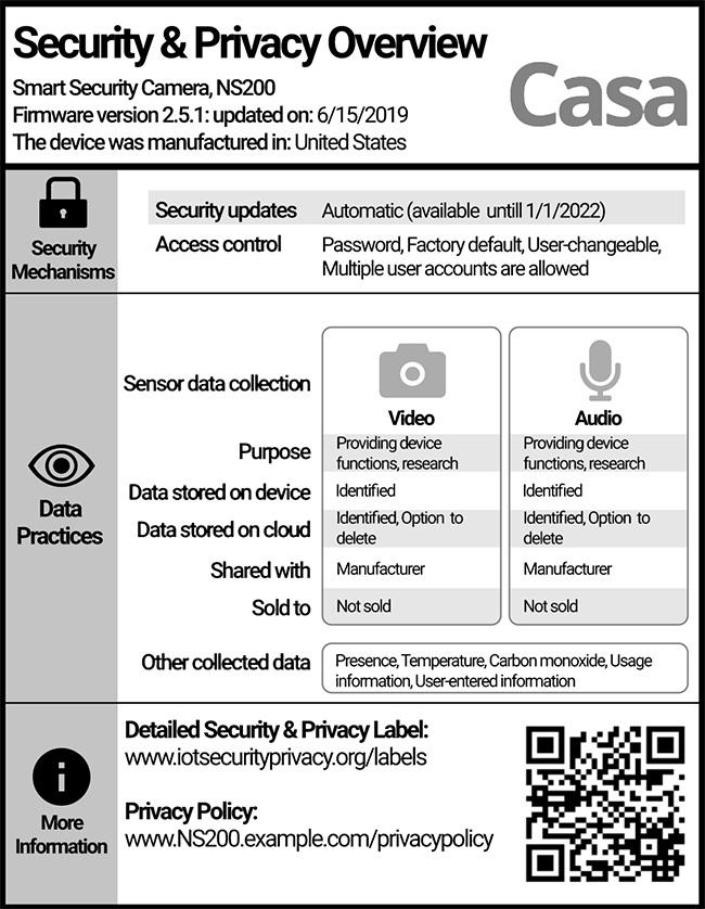 IoT security label