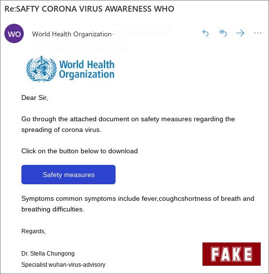 coronavirus fake emails