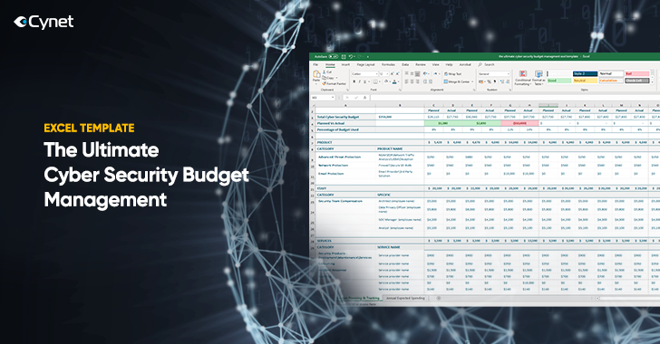 excel template security spending