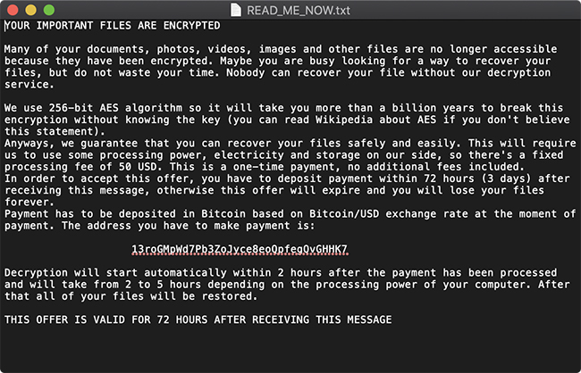 EvilQuest macOS ransomware