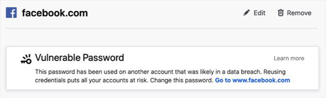 Firefox password security