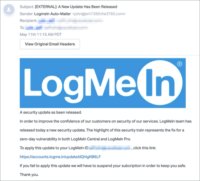 LogMeIn security update