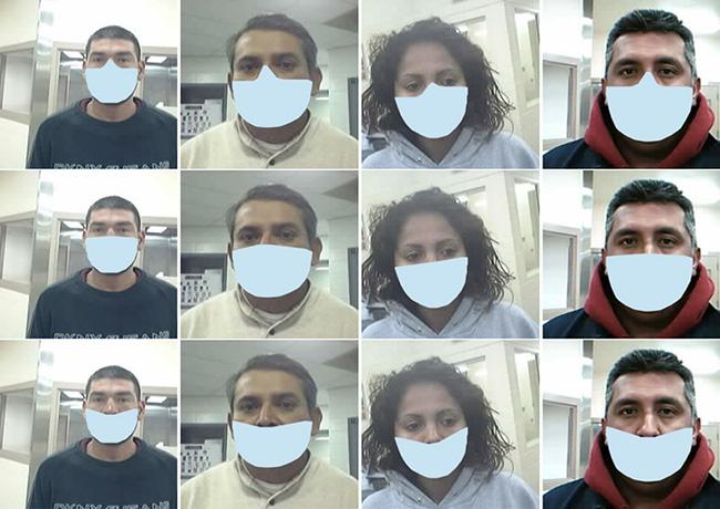 identify people wearing masks