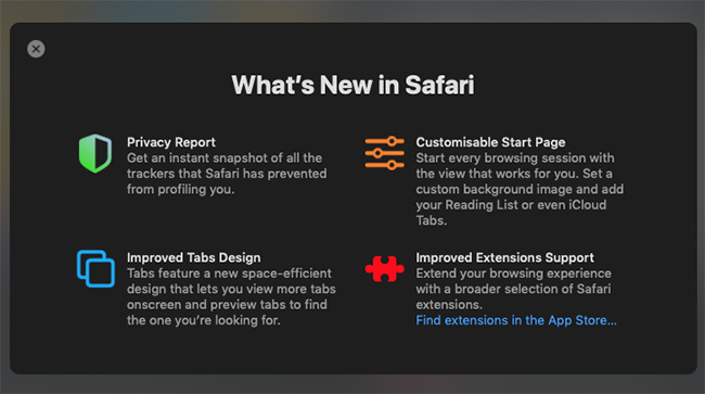 Safari 14 privacy