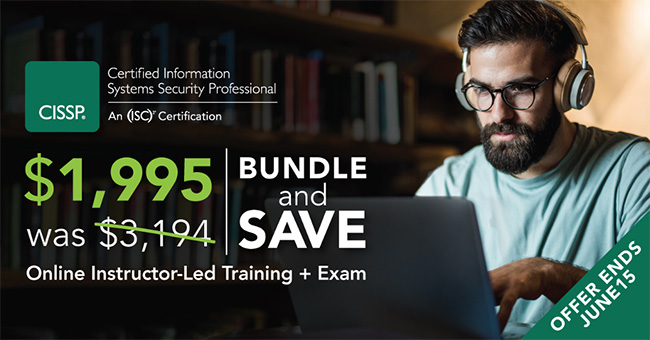 Save almost 50% on CISSP training