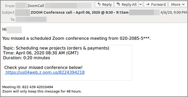 phishing Zoom Webex