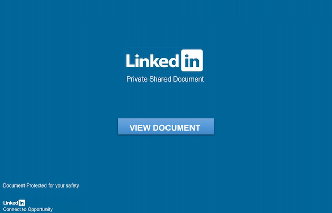 LinkedIn Private Shared Document