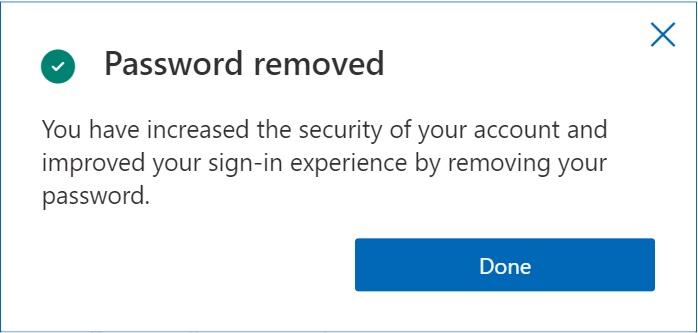 Microsoft passwordless authentication