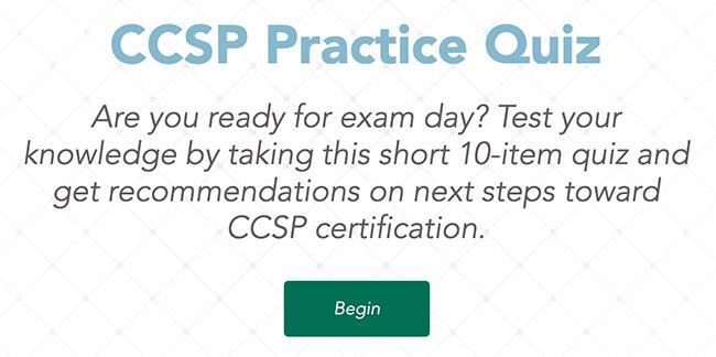 CCSP practice quiz